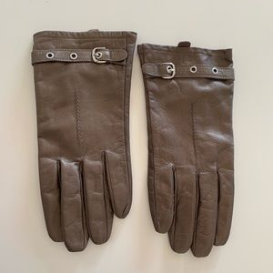 Merona gloves brown/gray genuine leather L/XL